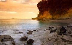 High-resolution desktop wallpaper Sunset Beach by Chris Gin
