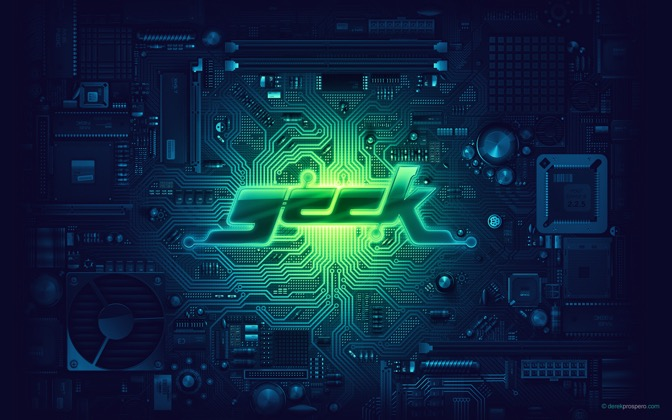 High-resolution desktop wallpaper Photoshop Geek by DerekProspero