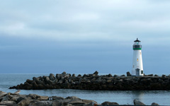 High-resolution desktop wallpaper Santa Cruz Harbor Lighthouse by E. A. Valdez