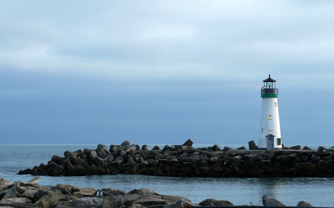 High-resolution desktop wallpaper Santa Cruz Harbor Lighthouse by E. A. Valdez