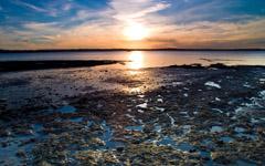 High-resolution desktop wallpaper Beach Sunset by Chris Gin