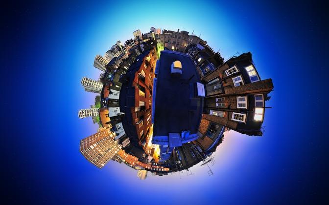 High-resolution desktop wallpaper My Home Planet by Dominic Kamp