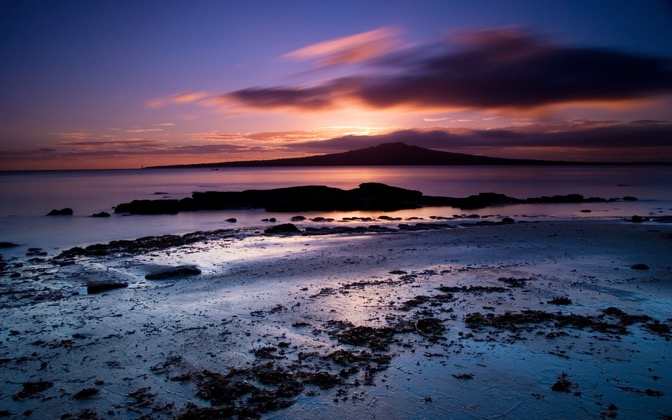 High-resolution desktop wallpaper Rangitoto Dawn by Chris Gin