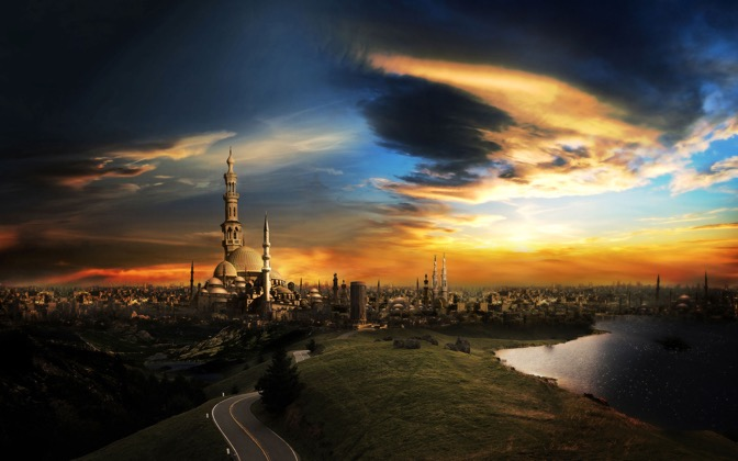 High-resolution desktop wallpaper The City of a Thousand Minarets by waelsaad