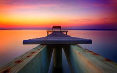 High-resolution desktop wallpaper The Dock by marc berger