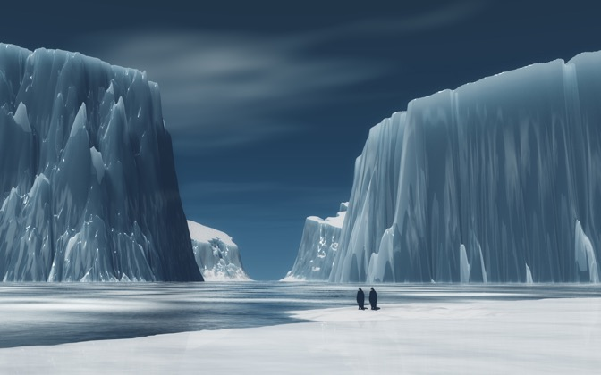 High-resolution desktop wallpaper Bergs by Richard Mohler