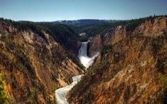 High-resolution desktop wallpaper Canyon Falls by Taylor Prins