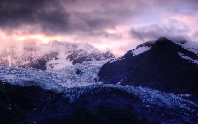 High-resolution desktop wallpaper Glacier Sunrise by mhl12