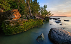 Hecla Island Sunset wallpaper