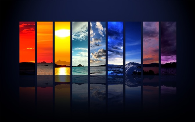 High-resolution desktop wallpaper The Spectrum of the Sky by Dominic Kamp
