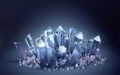 High-resolution desktop wallpaper Crystals by gbrgraphix