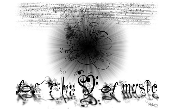 High-resolution desktop wallpaper For The Love Of Music by Phillysoul11