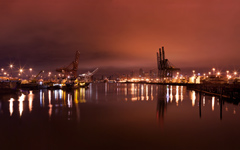 High-resolution desktop wallpaper Seattle's Harbor by Steven Miller