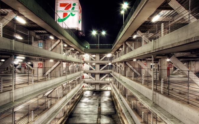High-resolution desktop wallpaper Tokyo Garage by Josh Douglas Smith
