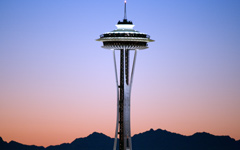 High-resolution desktop wallpaper Sunset Needle by Jeffery Hayes
