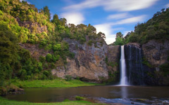 High-resolution desktop wallpaper Hunua Falls by Chris Gin