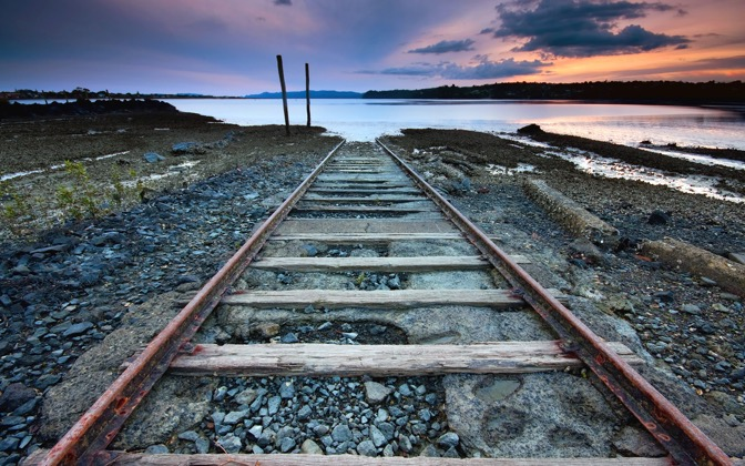 High-resolution desktop wallpaper Tracks to Nowhere by Chris Gin