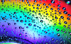 High-resolution desktop wallpaper Water Drops on the Rainbow by FatChuang