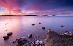 High-resolution desktop wallpaper Half Moon Bay Sunset by Chris Gin