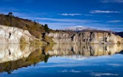 High-resolution desktop wallpaper Blue Lake by Chris Gin