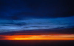 High-resolution desktop wallpaper Sunset Over the Clouds by altmann