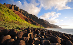 High-resolution desktop wallpaper Na Pali Evening by Travis Lair