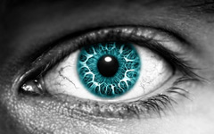 High-resolution desktop wallpaper Azure Eye by Aletheios