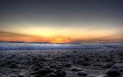High-resolution desktop wallpaper Rocky Sunset by Adamschroder