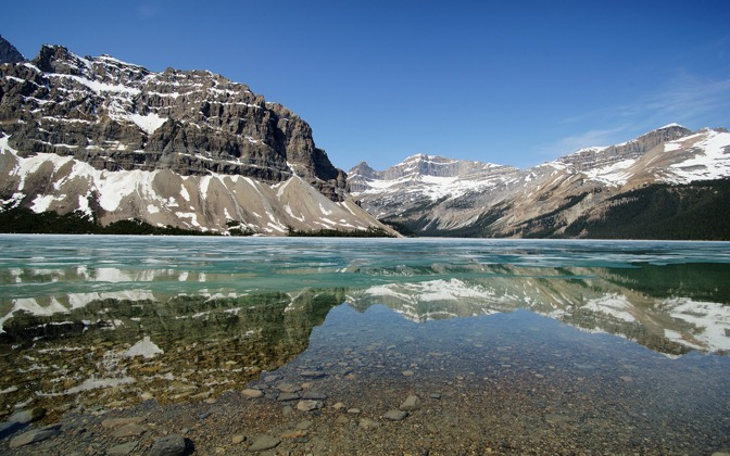 High-resolution desktop wallpaper Bow Lake, Icefields Parkway by TME