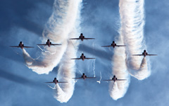 High-resolution desktop wallpaper The Red Arrows by alexcord