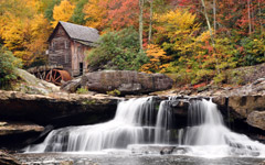 High-resolution desktop wallpaper Autumn Mill by Travis Lair