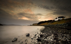 High-resolution desktop wallpaper A Peaceful Scottish Evening by Mickael Barbelet