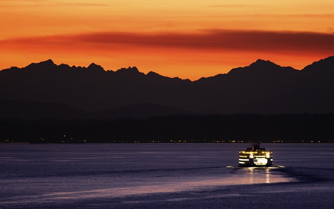 High-resolution desktop wallpaper Elliott Bay Ferry by skyo