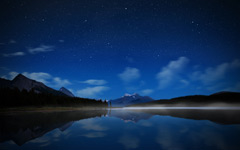 High-resolution desktop wallpaper Maligne Starry Sky by Dominic Kamp