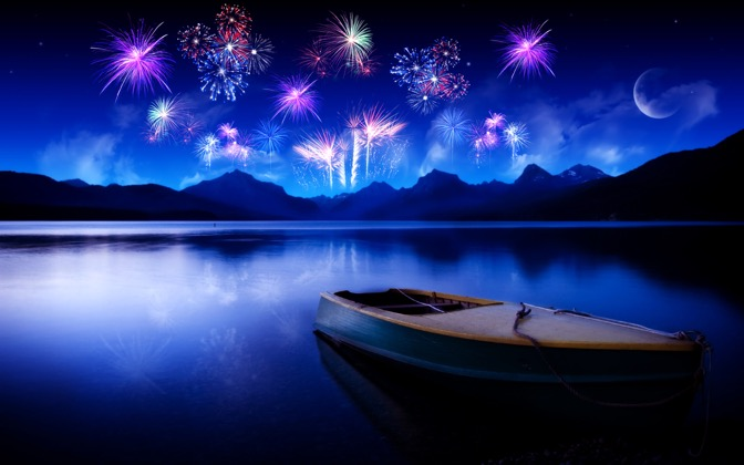 High-resolution desktop wallpaper New Year - 2010 by fullcirclegfx
