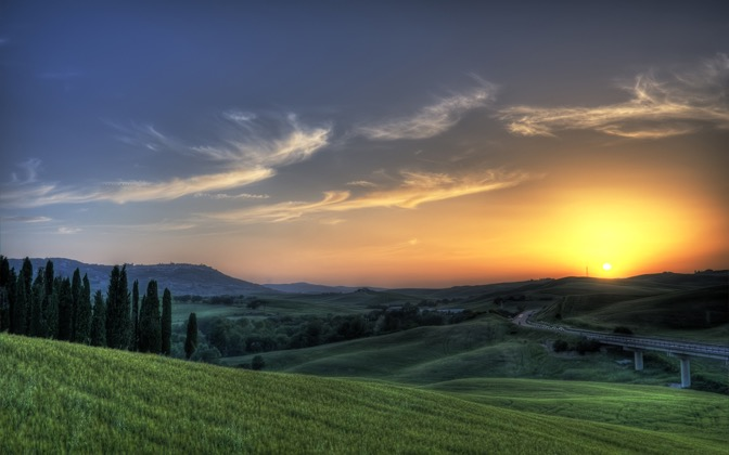 High-resolution desktop wallpaper Tuscan Sunset by alx2056