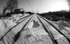 High-resolution desktop wallpaper Snowy Tracks by mrk