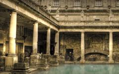 High-resolution desktop wallpaper Roman Bath by onis_uk