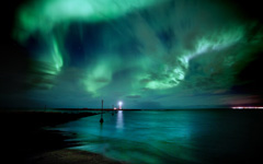 High-resolution desktop wallpaper Aurora Borealis by kiddik