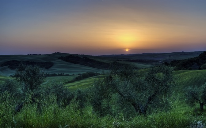 High-resolution desktop wallpaper Sunset in Tuscany by alx2056
