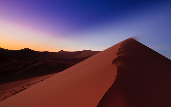 High-resolution desktop wallpaper Sunrise over the Namib's Dunes by Leon_J