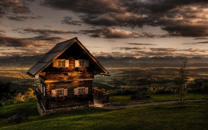 High-resolution desktop wallpaper Romantic Cottage by pixelfly