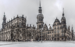 High-resolution desktop wallpaper Theaterplatz Dresden by dhfotos