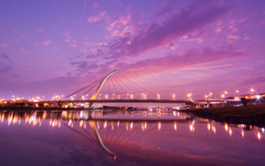 High-resolution desktop wallpaper Taipei Dazhi Bridge Sunset by BraveRoy