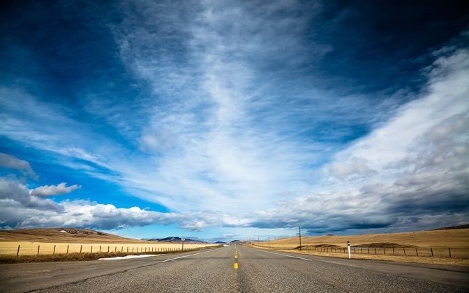 High-resolution desktop wallpaper When The Road Met The Sky by Philippe Clairo