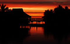 High-resolution desktop wallpaper Moorea Sunset by BinaryBlogger