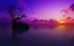 High-resolution desktop wallpaper Maldivian Sunset by Richard Mohler