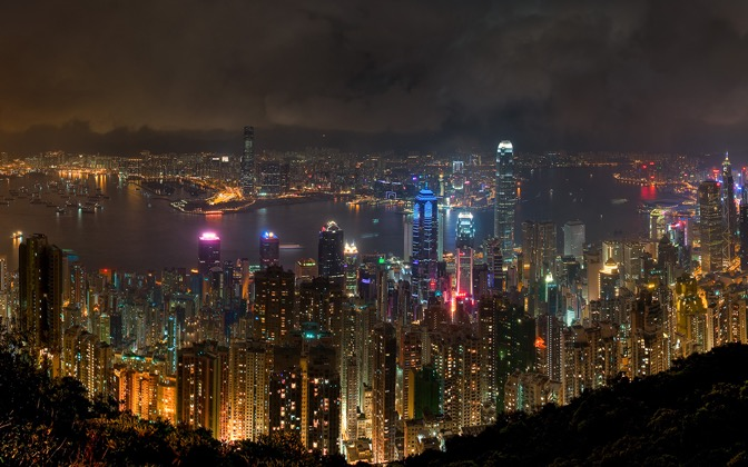 High-resolution desktop wallpaper Hong Kong at Night by HugoLeung