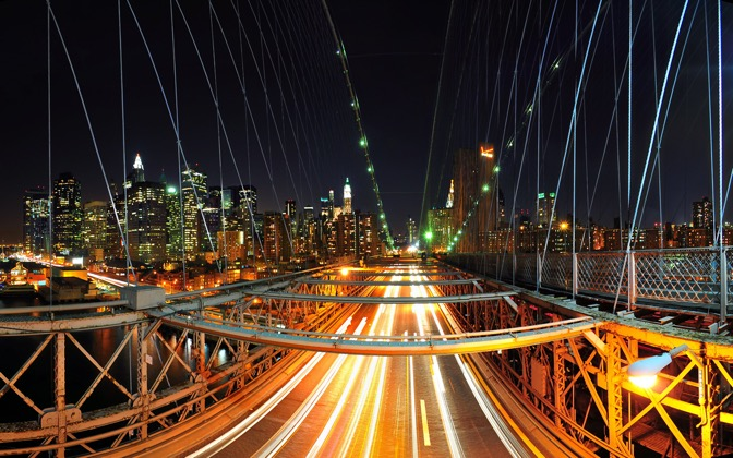 High-resolution desktop wallpaper New York Rush by Dominic Kamp