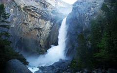 High-resolution desktop wallpaper Yosemite Falls by eknirb